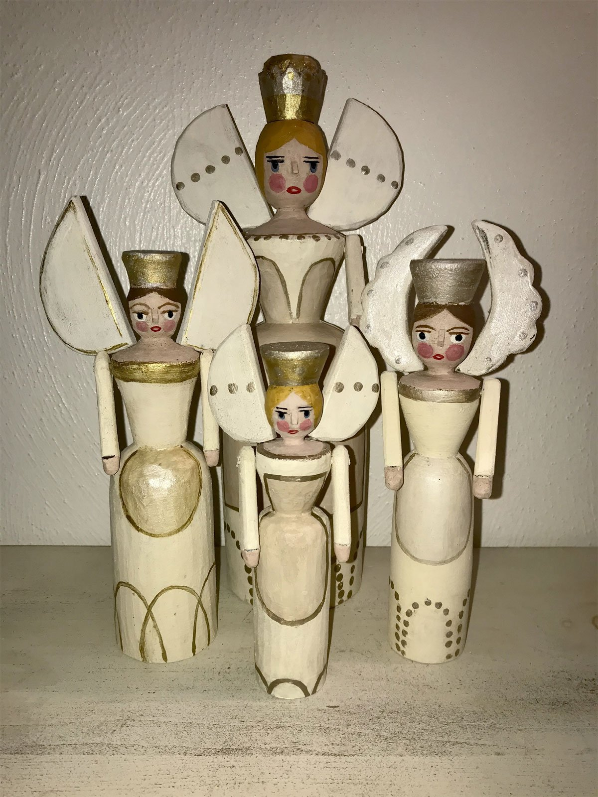 tree toppers or miner angel by Mary Myers Folk Art