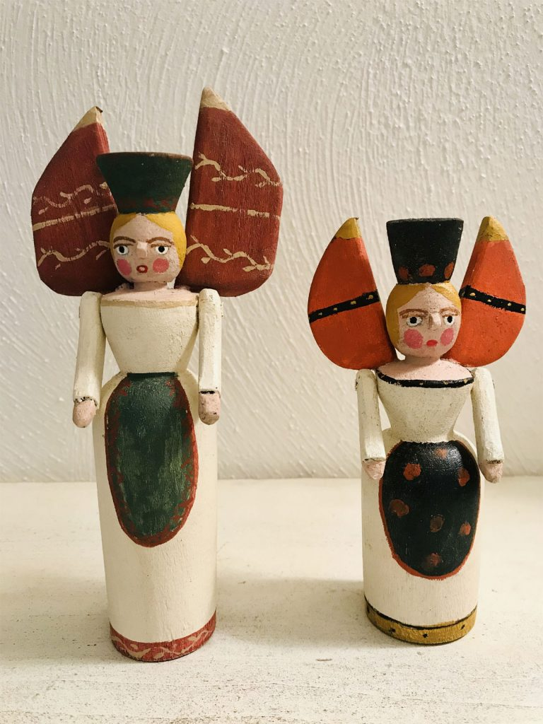 Miner Angel Tree Toppers - American Made Folk Art - Mary Myers Folk Art